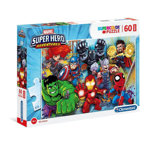 Puzzle 60 Maxi Supercolor Marvel Super Hero