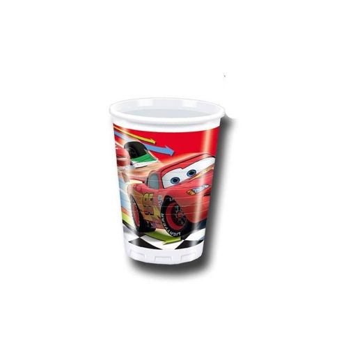 Bicchieri in plastica 200 cc Cars 2 10 pezzi