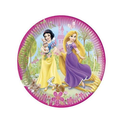 Piatti in carta 19,5 cm Principesse Disney 8 pezzi