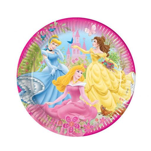 Piatti in carta 23 cm Principesse Disney 8 pezzi