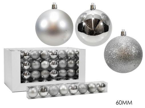 Set 8 palle 6 cm Argento Mix