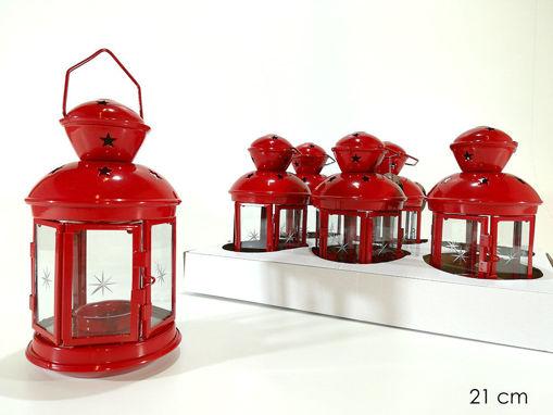 Lanterna portacandela Rossa