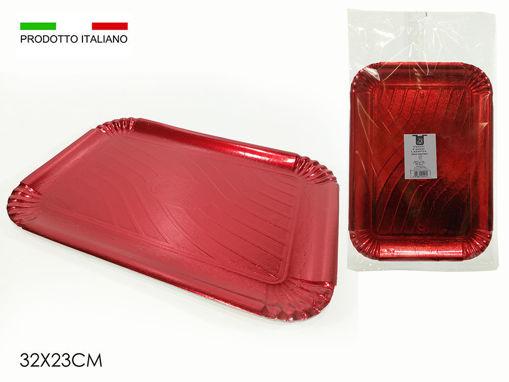 Set 2 vassoi in cartoncini Rossi 32x23 cm