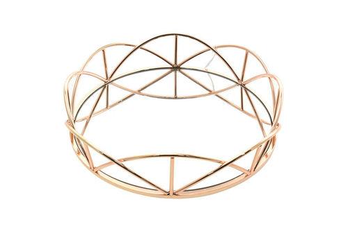 Centrotavola Oro con vetro diametro 29 cm