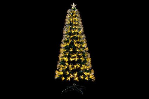 Albero di Natale 180 cm con 225 LED Bianco 8 Funzioni