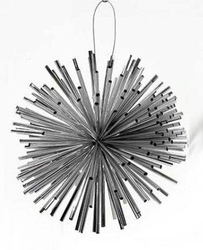 Palla Stilizzata Argento 10 cm