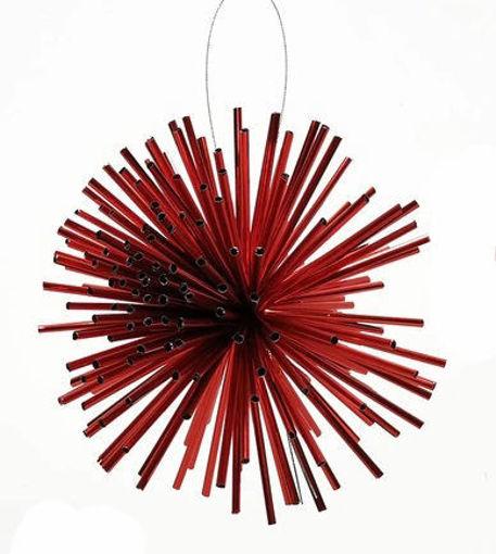 Palla Stilizzata Rosso 10 cm