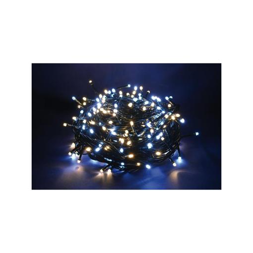 Serie Luci 300 LED Bianco Freddo e Bianco Caldo Uso Esterno con 8 funzioni