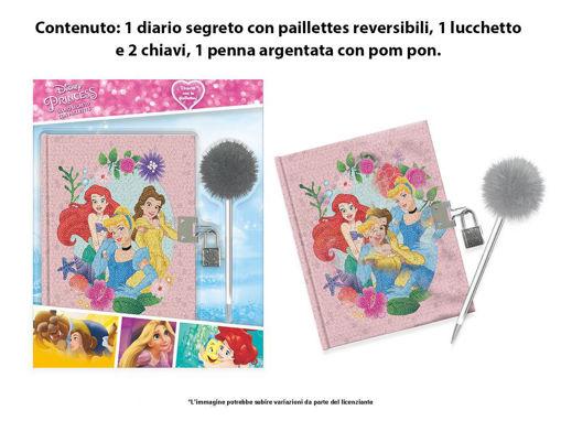 Diario Segreto con Paillettes Principesse Disney