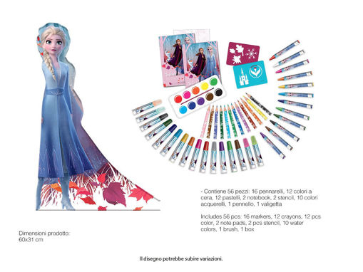 Maxi Set Sagomato Frozen con colori e accessori