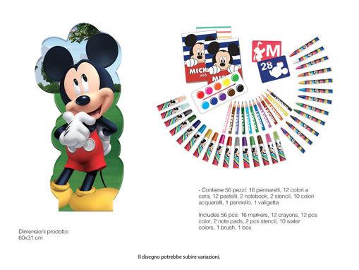 Maxi Set Sagomato Mickey Mouse con colori e accessori