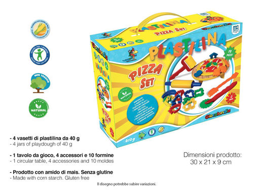 Set Pizza Plastilina 19 pezzi