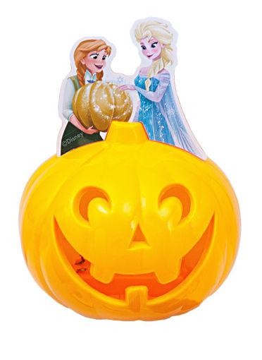 Zucca di Halloween 10 cm luminosa Frozen