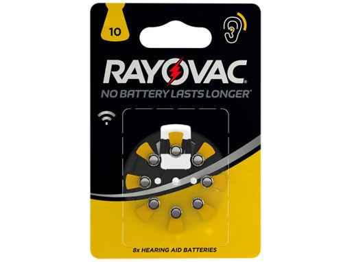 Batterie Rayovac Acustica 1,45V 10 PR70 8 pezzi