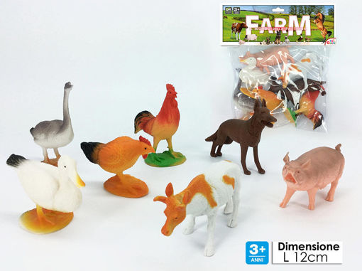 Animali della fattoria 7 pezzi