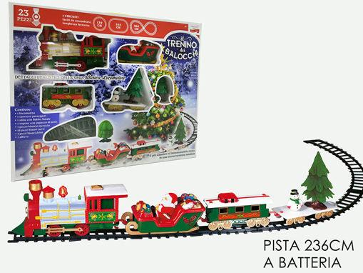 Pista Treno di Natale con luci e suoni 22 pezzi