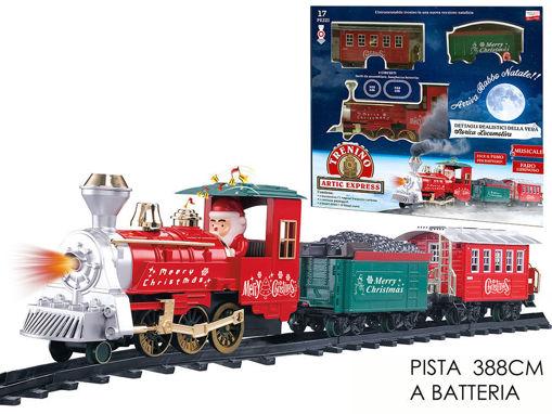 Pista Treno di Natale con luci e suoni 17 pezzi