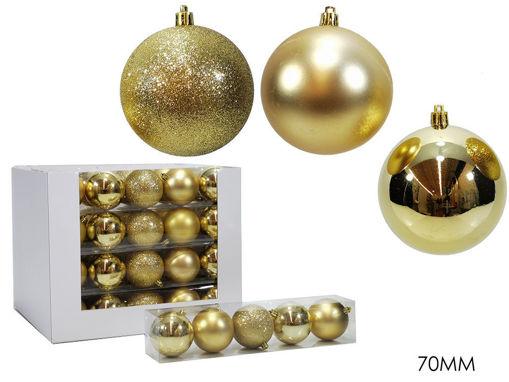 Set 5 palle 7 cm Oro mix