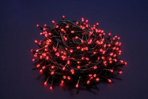Serie Luci 300 LED Rosso Uso Esterno con 8 funzioni