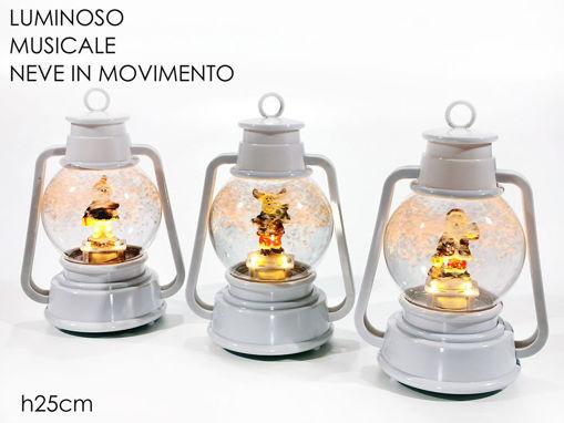 Lanterna con palla di neve con Personaggio luminose