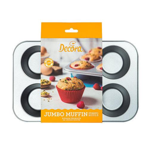 Stampo 6 Jumbo Muffin diametro 9 cm