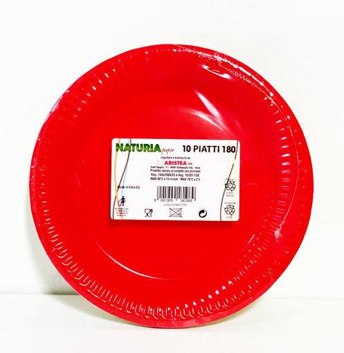 Piatti in carta 18 cm Rosso 10 pezzi