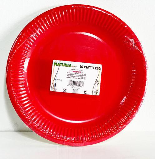Piatti in carta 23 cm Rosso 10 pezzi