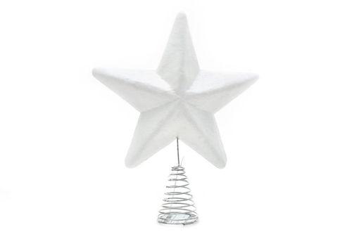 Puntale Stella Bianco 26 cm